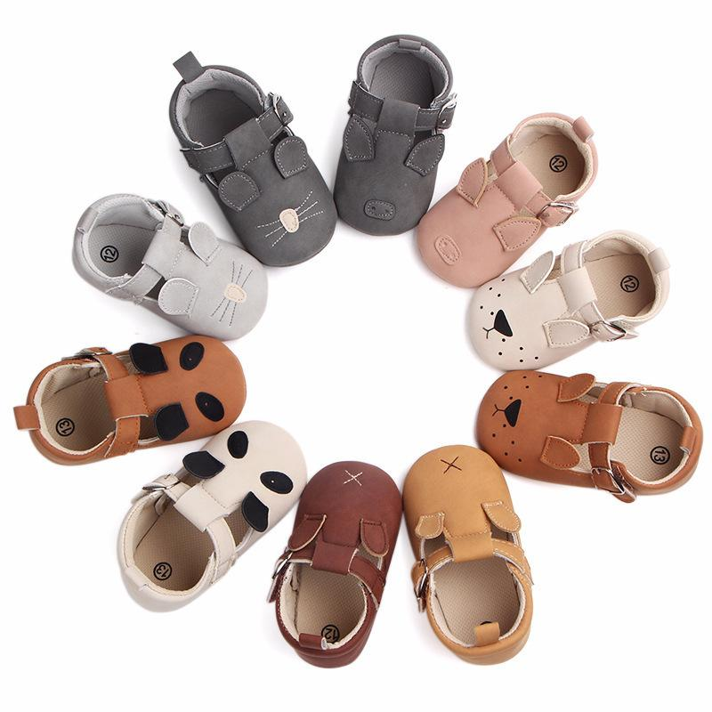 Mix Color Wholesale Cartoon Animal Moccasins Baby Boy Girls Shoes Newborn Infant Toddler Soft Sole First Walker Prewalkers