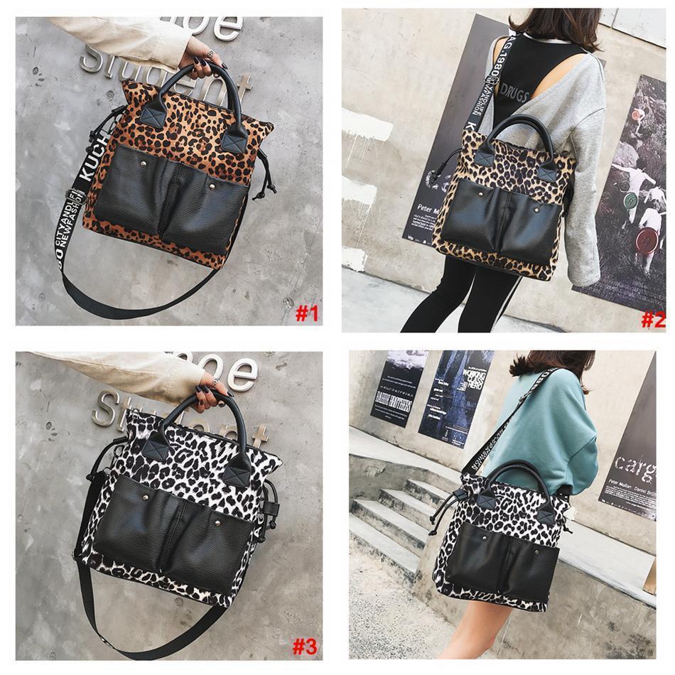 Женщин леопарда PU сумка большая сумка Сумка большой емкости мешок Буффало Сара отдыхающие LJJA3529