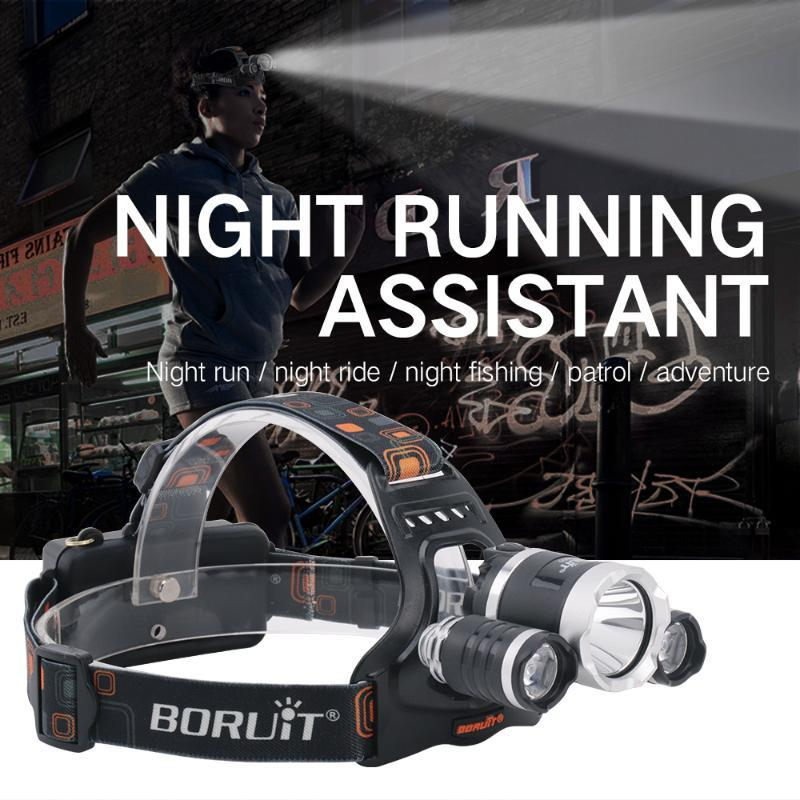 3000LM 3LED L2 XPE Headlamp White Light Outdoor Headlight Waterproof USB Head Lamp Torches Lantern For Hunting
