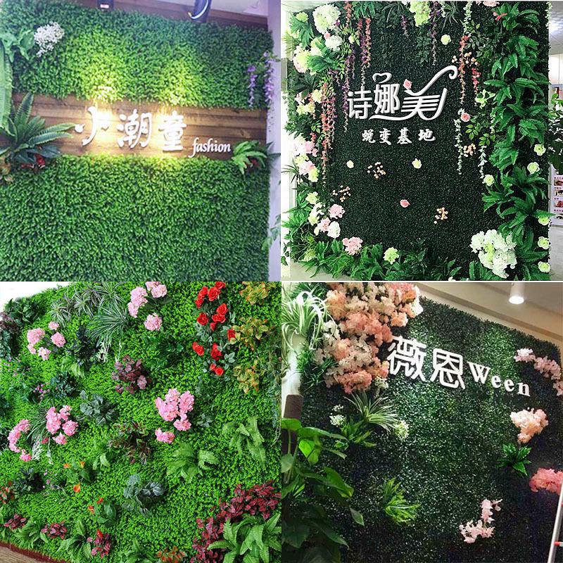 결혼식 정원 장식을위한 친환경 인공 식물 벽 인조 잔디 벽 환경 공장 벽 잔디 플라스틱 증거