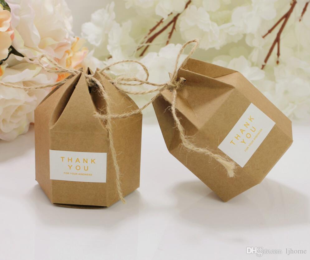 50 stücke 2019 Neue Kraft Geschenk Kartons Kraftpapier Boxen Für Geschenk Karton Papier Verpackung Braun Candy Boxen