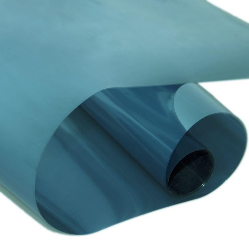 Синий или Гери цвета Non-Adhesive Статическая конфиденциальности Энергоэффективная Solar Window Стекло Колеровка пленка Покрытие 1.52x0.3m (60inx12in)
