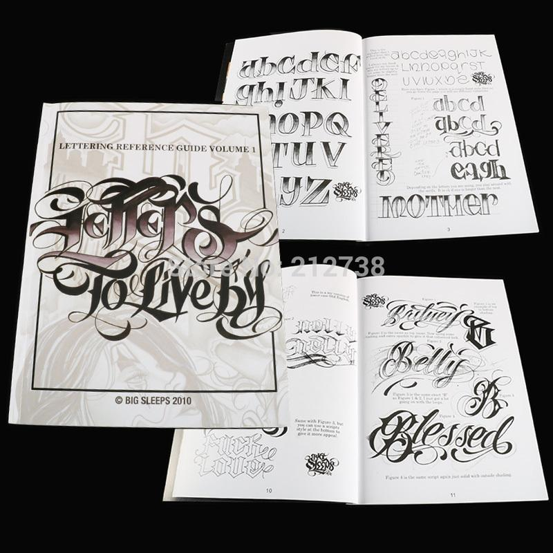 A4 문신이 책의 편지 (1) 디자인 문신 플래시 책 큰 잠들지 의해 VOLUME # 살려고 (44 페이지)