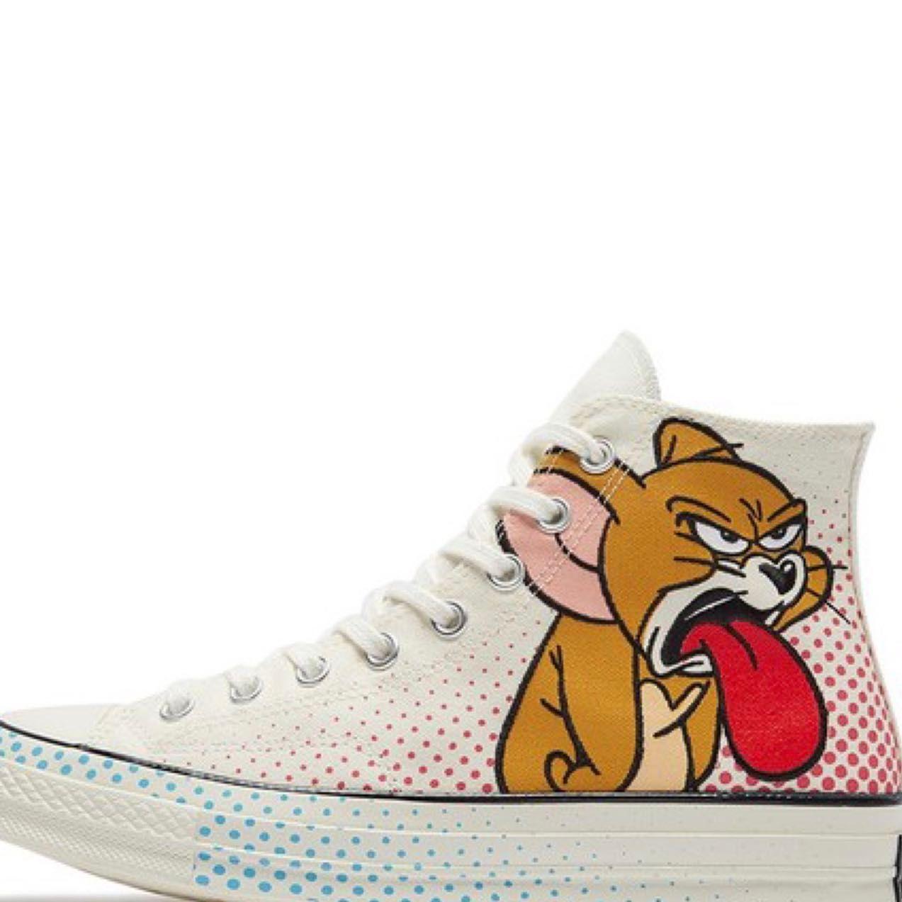 Scarpe di tela Tom e Jerry casuale del progettista della tela di canapa dei pattini correnti Skateboard Sneakers scarpe High-top tela Dimensioni 35-41