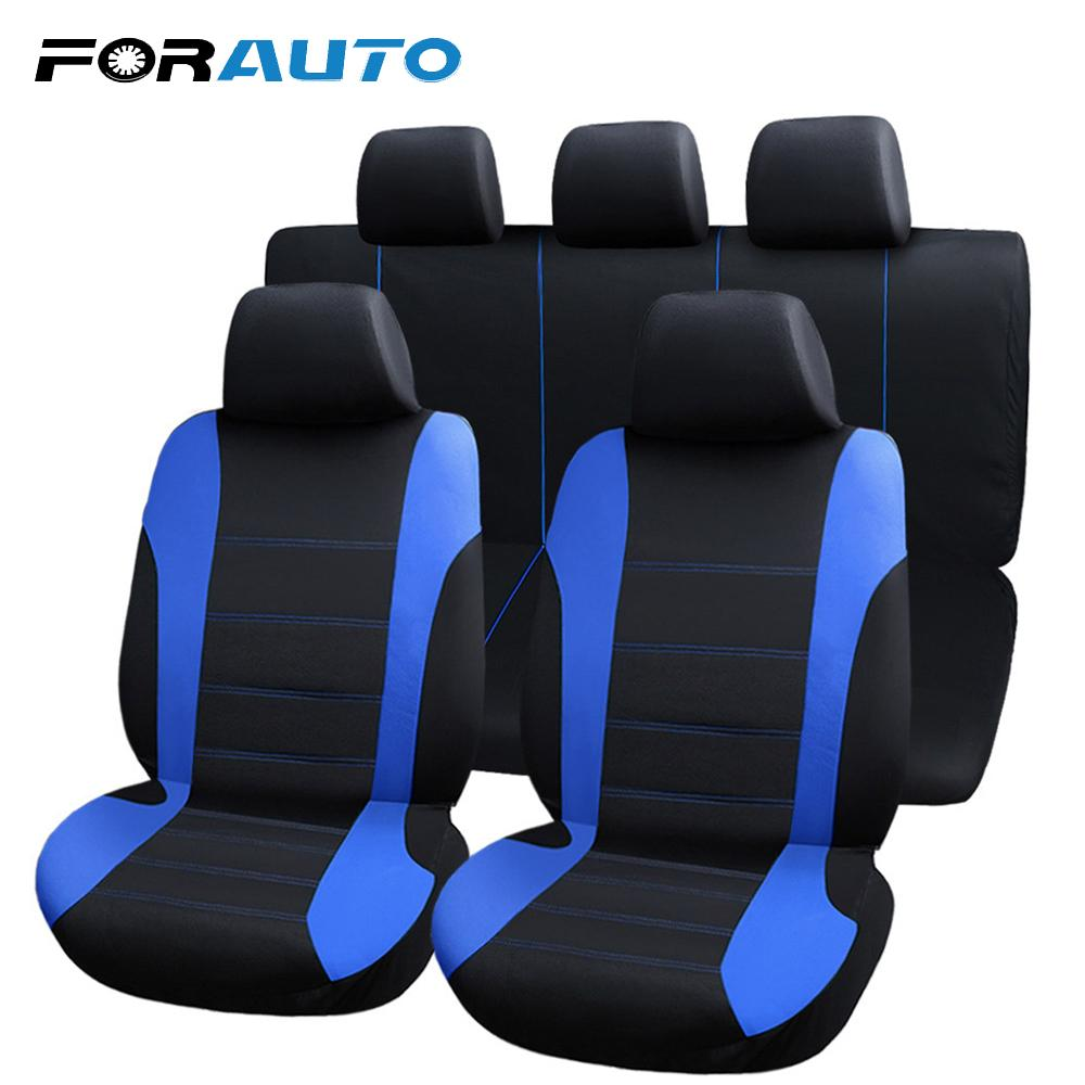 FORAUTO Full Autositzbezug Autositzbezüge Universal Fit Die meisten Autos Protector Car-Styling Interior Zubehör