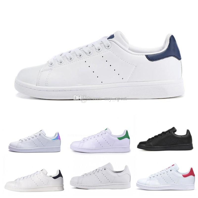 Sell 2019 New Originals Stan Smith Shoes Cheap Women Men Casual Leather Sneakers Superstars Skateboard Punching White Blue Stan Smith Shoes Sports