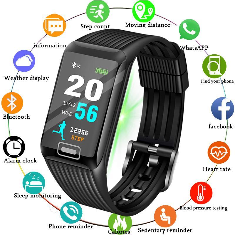 2019 New Smart Watch Men Heart rate Blood Pressure Monitor fitness tracker Smart Bracelet Sports pedometer Watch Smart band