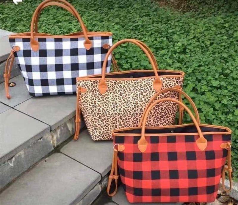 Envío de lona de una sola bolsa hombros a cuadros portátiles de las mujeres de la flor bolsa de compras de moda bolsas de almuerzo DHL reutilizable hvshl