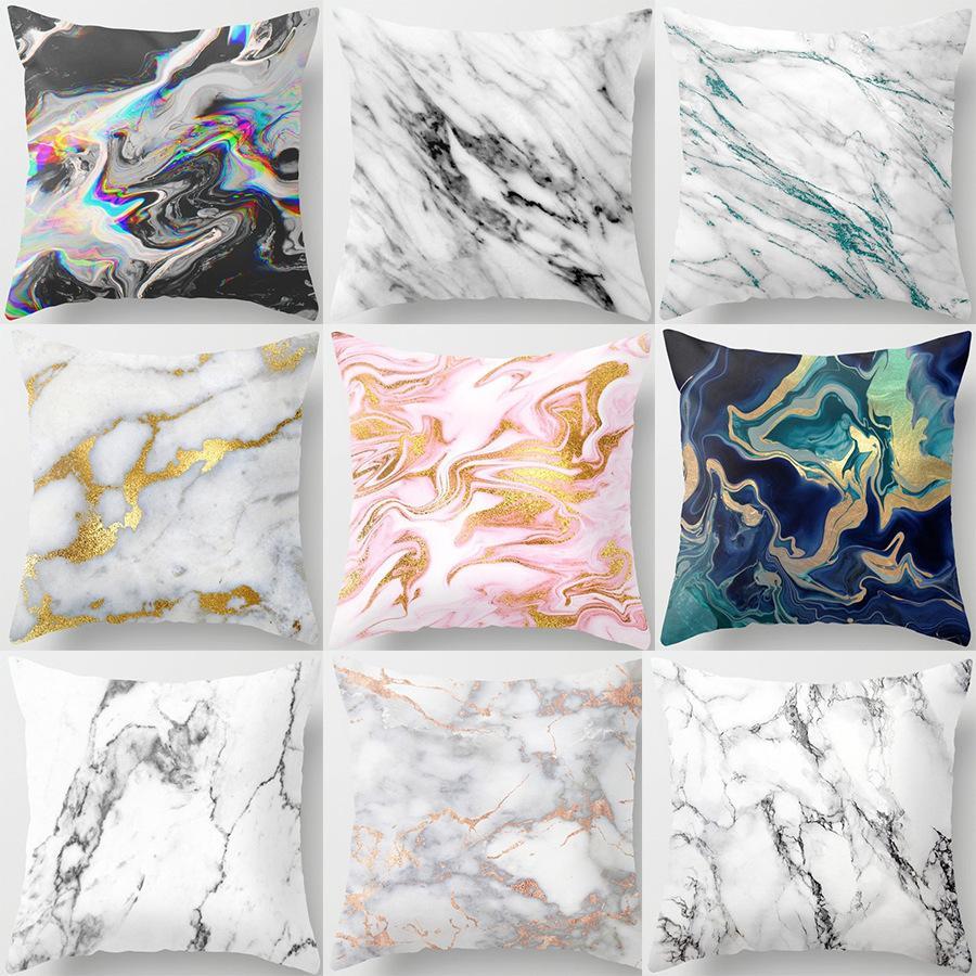 Marble Muster Nordic Geometric Dekorative Kissen Pfirsich Samt Mikrofaser Kissen Kissenbezug für Auto-Haus Wohnzimmer
