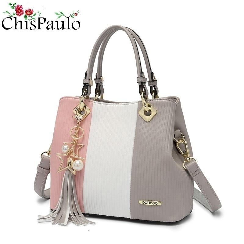 2019 Cowhide Genuine Leather Bags For Women Fashion Women's Shoulder Chain Bags Female Tassel Messenger Bags Bolsa Feminina N271 T191024