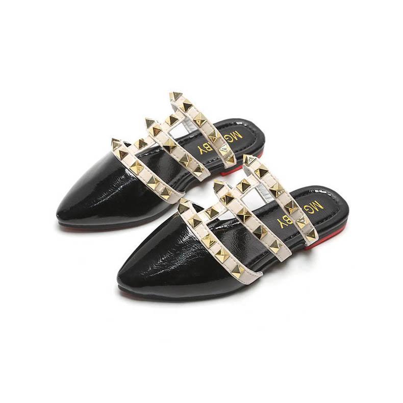 Ins 2020 Летняя заклепками обувь для девочек мода ботинки малышей принцессы девушки сандалии детские сандалии дети дизайнер обуви девочек тапочки B787 розничной B787