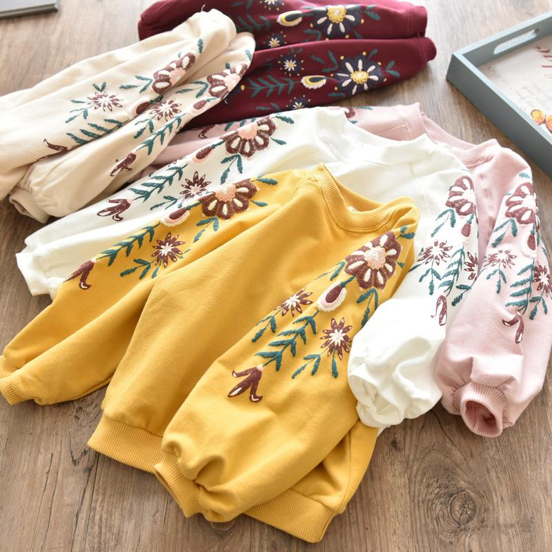 2018 New Arrival Baby Girls Sweatshirts Spring Autumn Children hoodies long sleeves sweater for kids T-shirt clothes