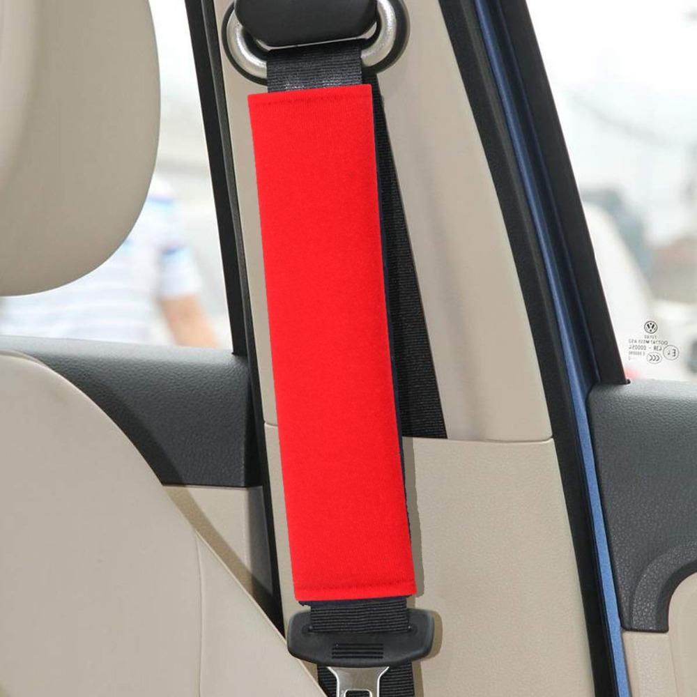 2pcs Ceinture de sécurité Ceinture de protection Car Cover pour adultes enfants Universal Car Seat Tapis de ceinture Coussin épaule assise Sangle Pad Cover