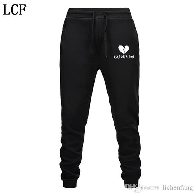 Мужские брюки уличная хип-хоп XXXTentacion повседневные брюки мужчины фитнес бегуны тренировочные брюки осень флис утолщение шнуровка EL-4