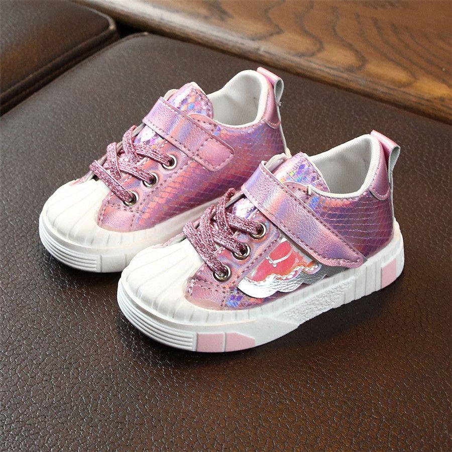 Children's soccer shoes sequins soft bottom non-slip kids sneakers boys casual breathable kids football sneakers girls 40J30