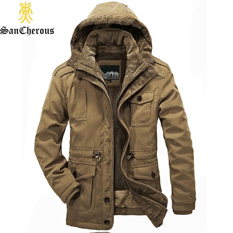 2018 신착 최고 품질 남성 Warm Parkas Heavy Wool Men 겨울 자켓 남자 2 in 1 Coat Size M-4XL