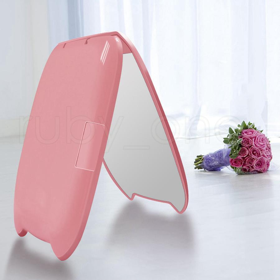 3styles Портативный 8 светодиодные лампы для макияжа компактное зеркало Двусторонняя складная с увеличительным стеклом зеркальце Инструменты RRA2164