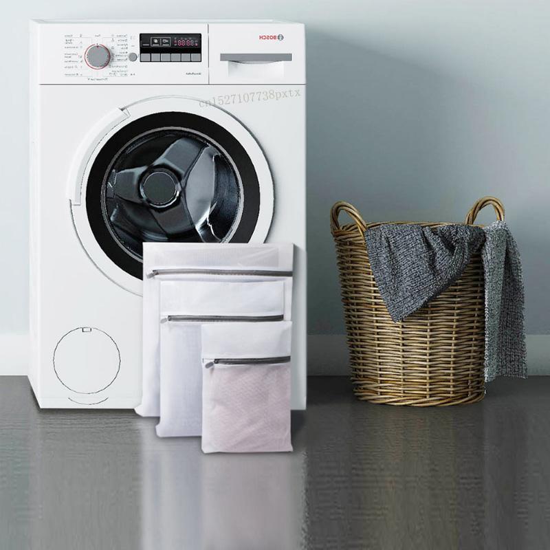 스마트 원격 제어 Youpin 3PCS 지퍼가 달린 접이식 나일론 세탁 가방 브라 양말 속옷 의류 세탁기 보호 그물 메쉬 가방