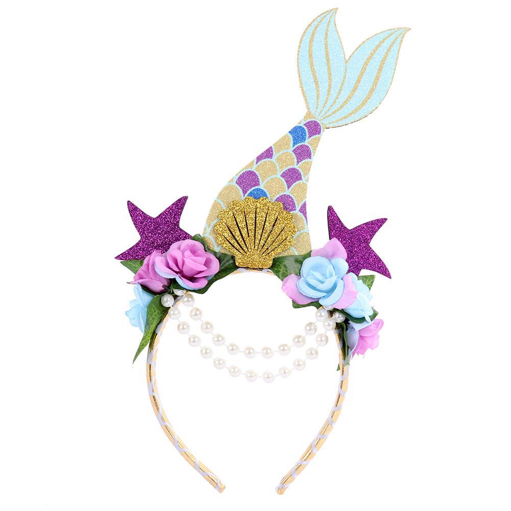 Compre Cospty Envío Gratis Fiesta De Carnaval Festival Traje Nuevo Diseño Decoración Brillo Flor De Perla Cola De Pescado Sirena Hairband A 262 Del