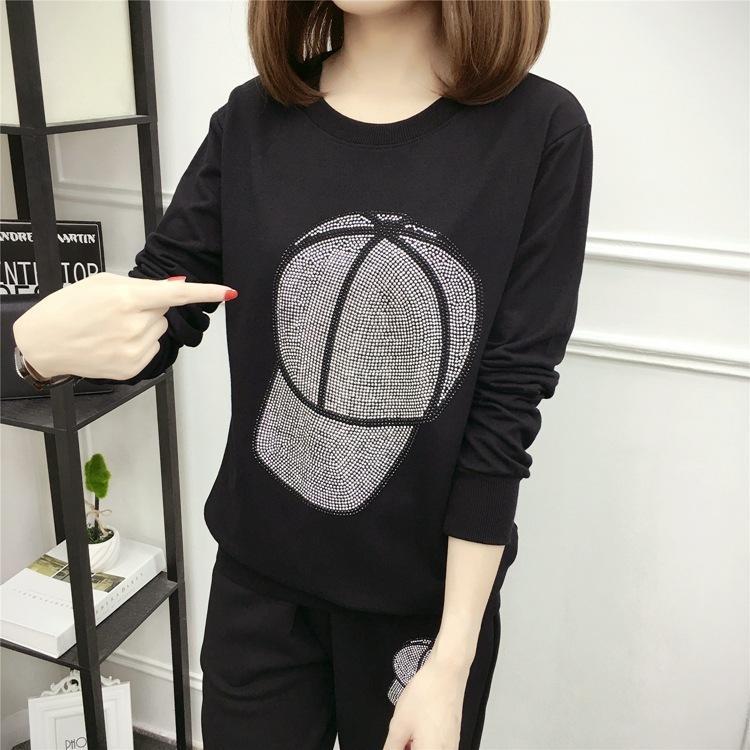 DONAMOL Artı boyutu 2020 siyah sweatshirt Hip Hop Casual Sıcak Kapüşonlular Kadın kıyafetleri Kazak Uzun Kollu Y200706 Tops baskı sondaj