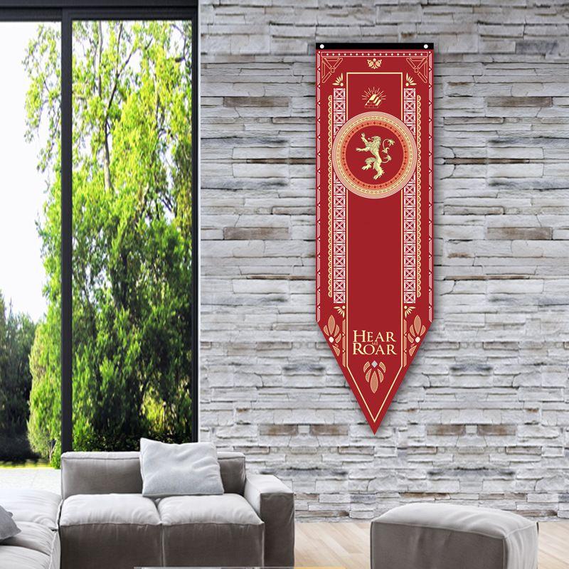 Giochi di Trono Stark Bandiera Famiglie Flag Home Decor Lupo Drago poliestere Thrones Banner Flag Giochi Decora 150 46 centimetri *