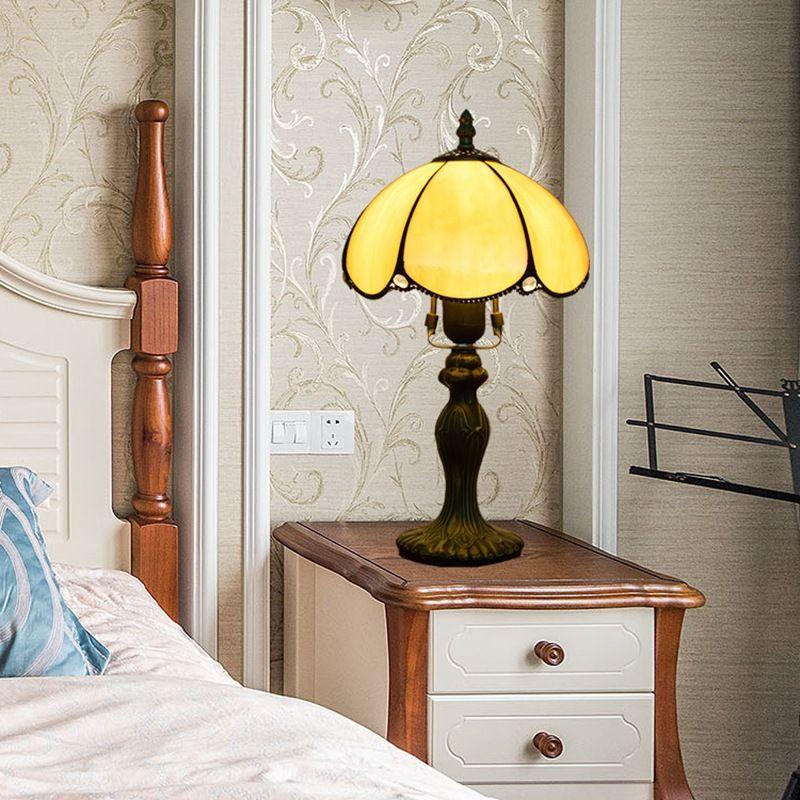 20 سنتيمتر في قطرها الأصفر تيفاني زجاج الجدول مصباح الترفيه أماكن بار فندق السرير مكتب مصباح الرجعية الجدول ضوء بسيط DS075