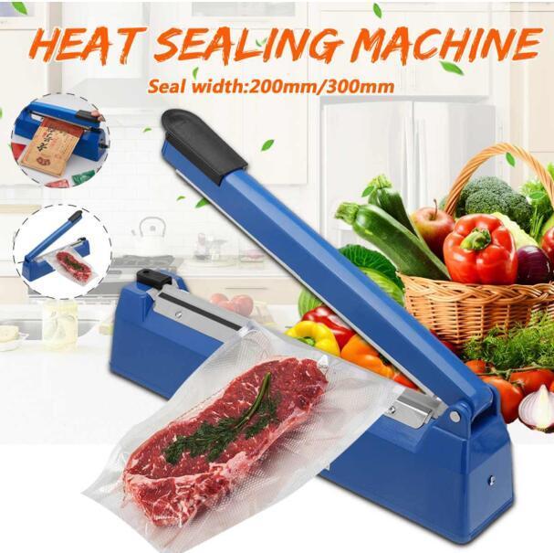 200mm / 300mm impulso sigillante termosaldatrice macchina da cucina cucina sigillante sacchetto di vuoto sigillatore sacchetto di plastica strumenti di imballaggio 220v 50 / 60Hz