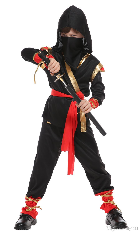 Shanghai Story Halloween Boy Ninja Costume Cosplay for Kids Size