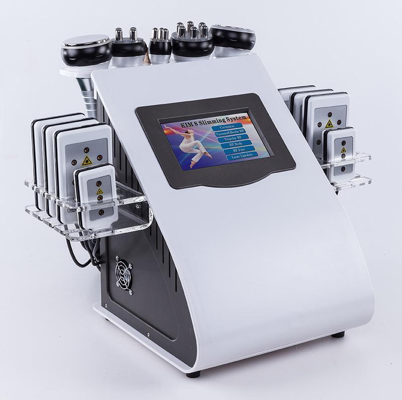 고품질 40K 초음파 공동 현상 지방 흡입 수술 8 패드 레이저 진공 프레소 다극 RF 스킨 케어 살롱 스파 슬리밍 기계