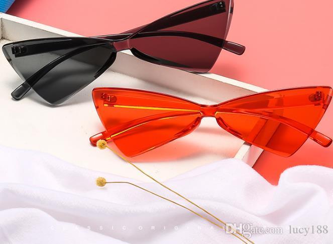 Acessórios de moda 2019 olho de gato fêmea óculos de sol estilo quente triângulo bowknot forma doce cor restaurar antigas formas bola óculos de sol