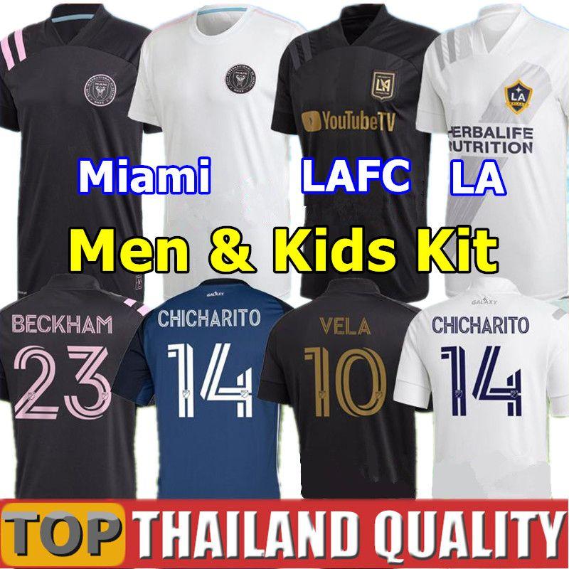 2020 Los Angeles FC Soccer Jerseys 2021 LAFC Carlos Vela Inter Miami Beckham Football Shirt set LA Galaxy Chicharito MEN KIDS kit uniforms