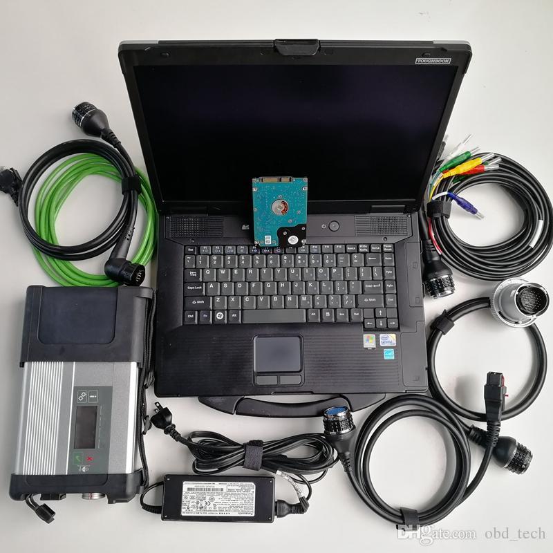 Auto Diagnóstico Ferramenta MB Estrela C5 SD Connect 5 WiFi 500GB HDD V03.2021 CF52 I5 4G Militares usados Laptop pronto para uso