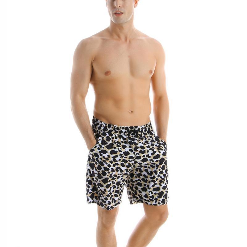 Hot Fashion 2020 Summer Beachwear Family Matching Leopard Print Swimsuit Father Son Man Kid Boy Board Shorts Swimwear One Piece