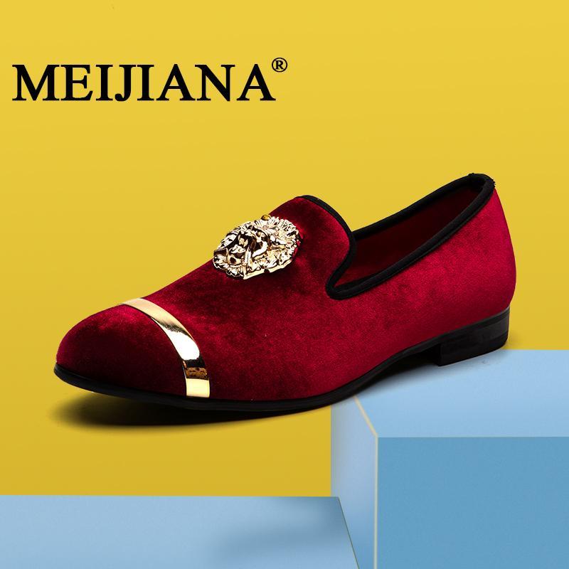MeiJiaNa 2019 men's shoes various colors knot wedding Lok Fu shoes gentleman men's flat casual shoes