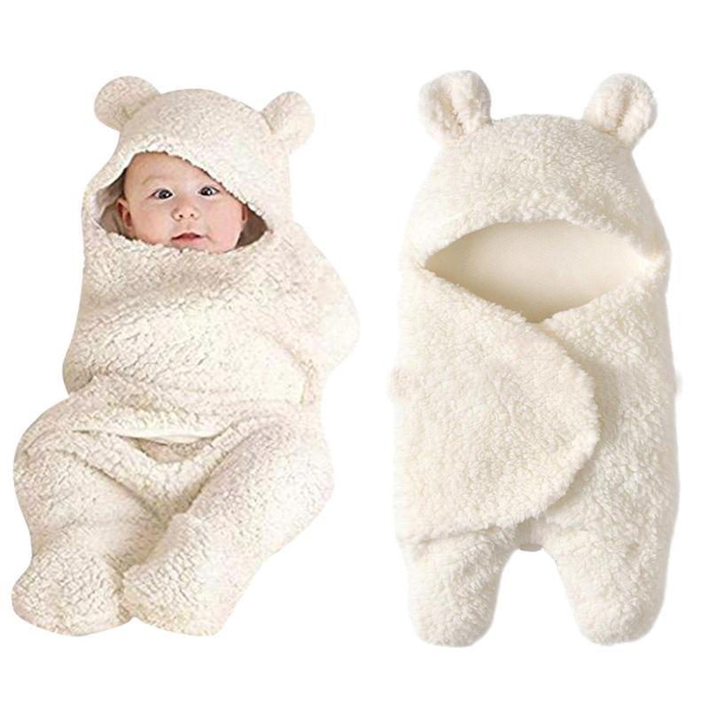 Beyaz Sleeping Battaniye Kız Erkek Wrap S Alma Beyaz Uyku Battaniye Kız Erkek Wrap Kundaklama Alma Yenidoğan Bebek Sevimli Pamuk