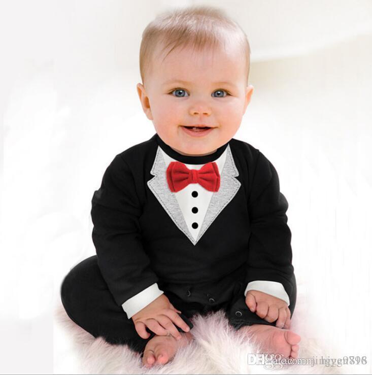 2017 primavera e estate nuovo stile baby boy gentleman Climb vestiti per bambini Romoers bambini tute per bambini un pezzo di abbigliamento.