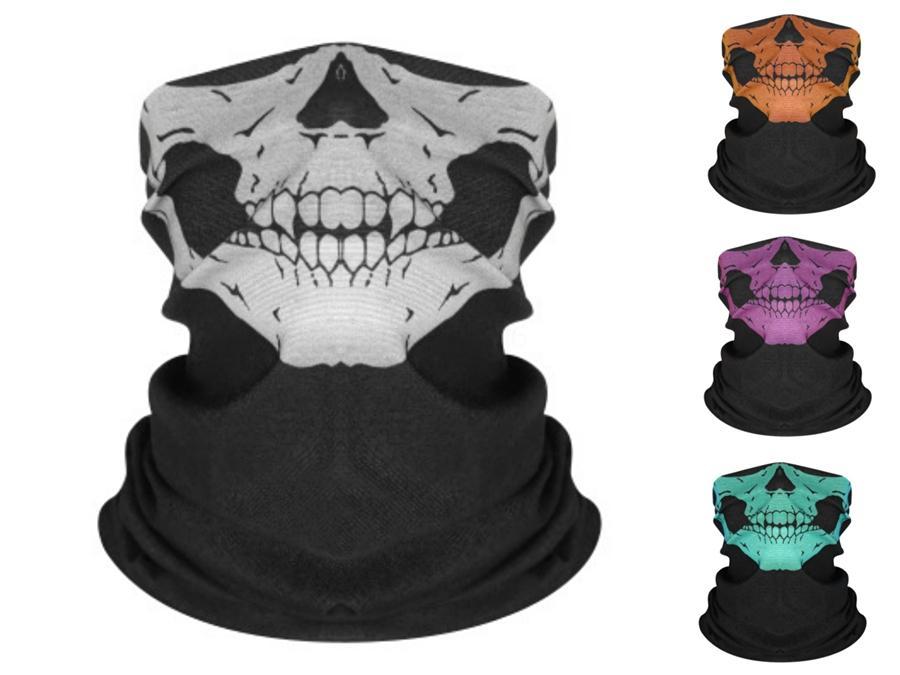 IMFEj EDC cielo stellato in bicicletta Skull Scarf Stampa Hairband Maschera Viso esterna Skull Scarf fascia leggera e traspirante New Soft magica Copricapo 6 # 389