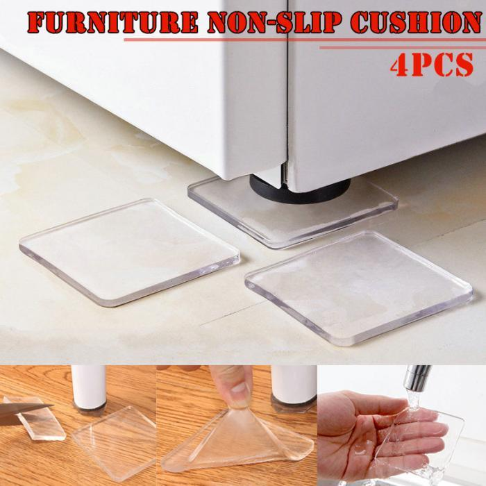 Newly 4 Pcs Washing Machine Refrigerator Chair Cushion Shock Proof Pad Furnitures Anti Slip Pad