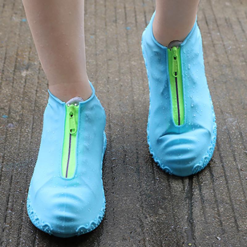 지퍼와 방수 신발 커버 하이킹 방수 운동화 커버 남성 레인 커버 신발 여성 아동 보호 신발 커버