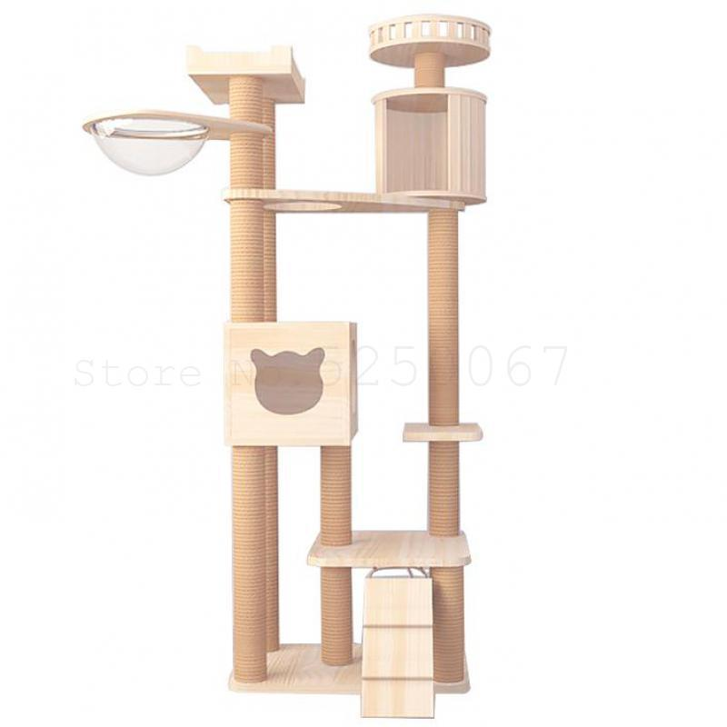 25 Cat Cat cremalheira baloiço de madeira sólida grande torre rack Tree House Integrado Villa Jumping Plataforma