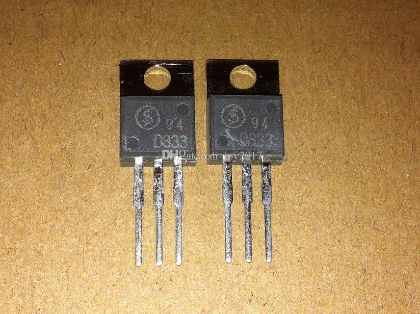 Freies verschiffen 2SD833 D833 TO220 Neu und original 10 TEILE / LOS