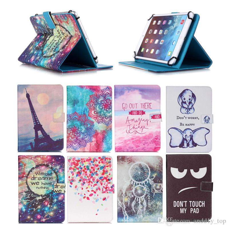 Cartoon Printed Universal 10 inch Tablet Case for HP 10 Plus Cases kickstand PU Leather Flip Cover Case for HP Slate10 HD