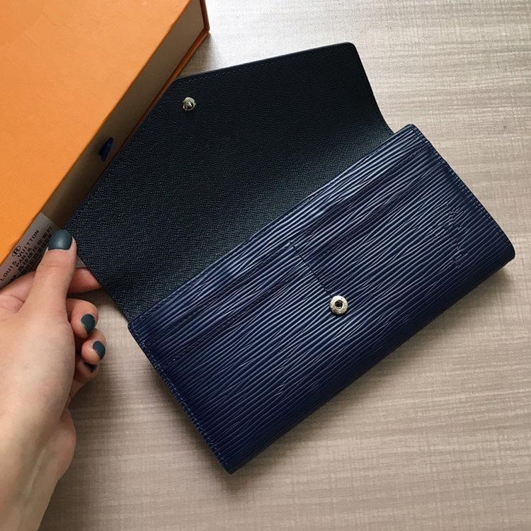 Designer- de cuero clásico original carpeta del diseñador del bolso del modelo de largo dinero cremallera moneda bolsa bolsillo nota de embrague diseñador M60528