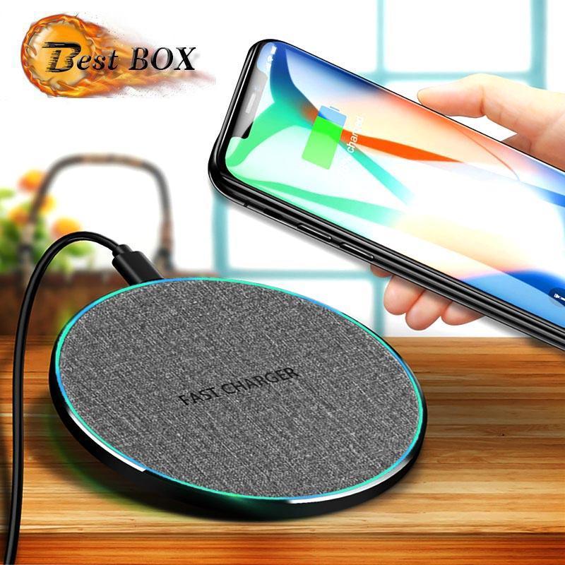 Wireless-Ladegerät 10W Wireless Charging Pad Schnell-Ladeadapter kompatibel mit allen Qi-fähigen Telefonen Samsung Galaxy S11 S10 Smartphone