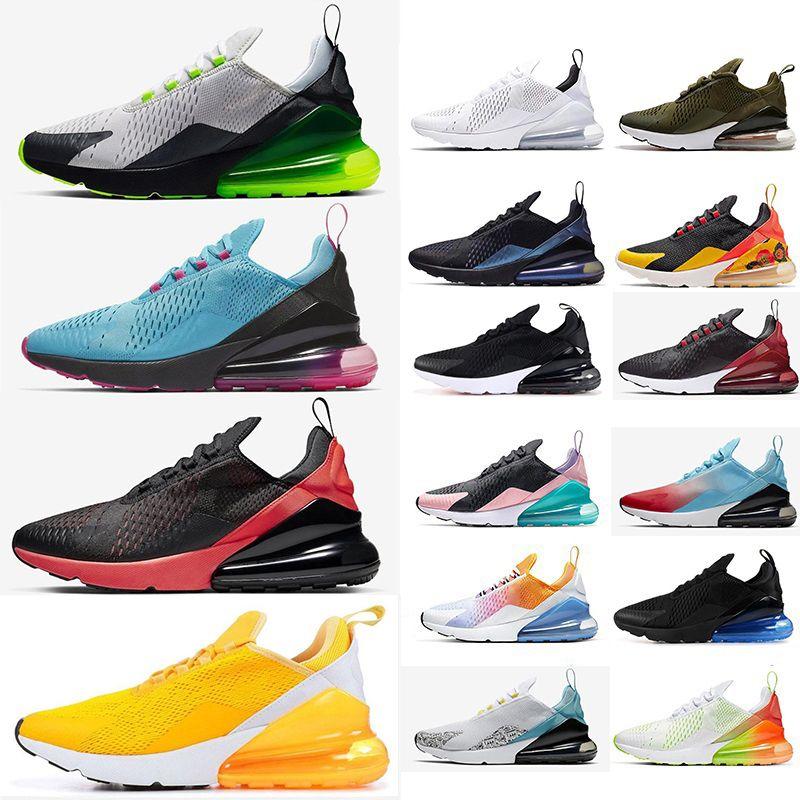 Nike Air max 270 Eur 36-49 Almofada Running Shoes Air University ouro Platinum Tint Bred South Beach Triplo Preto Núcleo Branco Sports Sneakers Tamanho 13 14 15