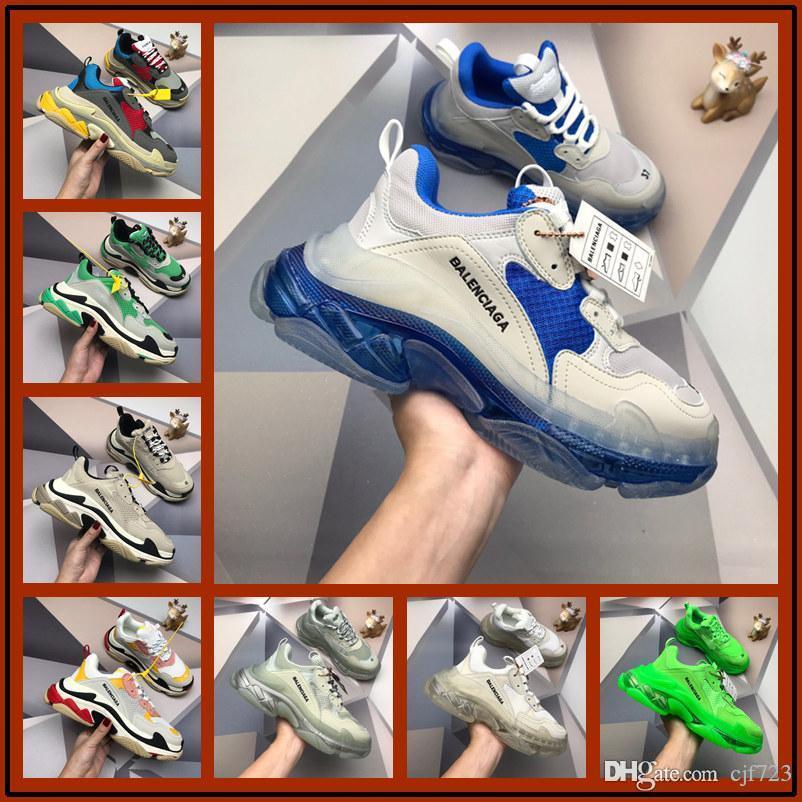 A1 Luxe Triple S Low Sneaker Old Faire combinaison Soles Bottes Hommes Femmes Chaussures Top qualité sport chaussures Chaussures Casual