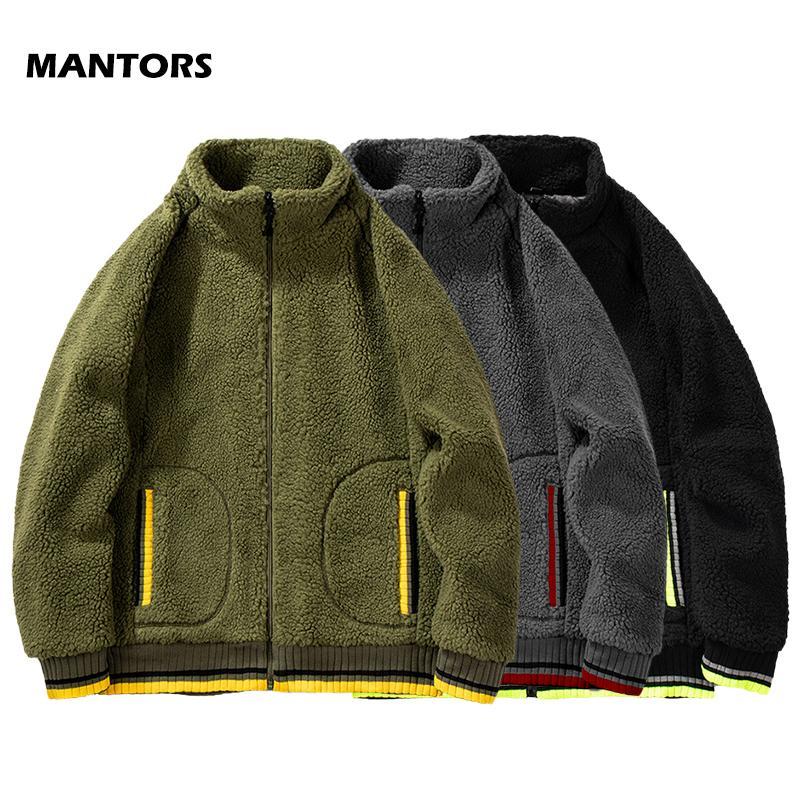 2.019 Homens de lã com capuz Inverno Teddy Hoodies Casual Zipper Cardigan Coats Marca Men Roupa Moda Casal Wear Hoodie