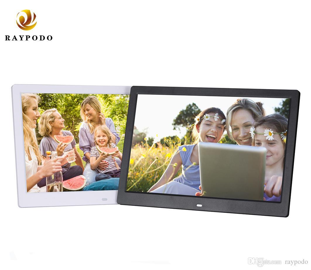 Raypodo HD جدار جبل إطار الصورة الرقمية 13 بوصة مع فتحة لبطاقة SD 1280 * 800 دعم دقة الفيديو والسيارات صور اللعب