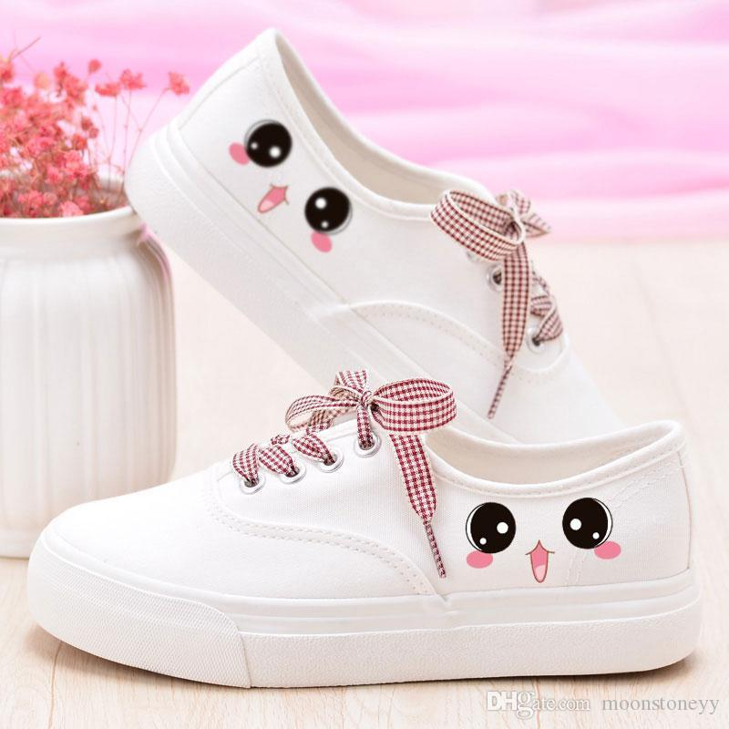 New Hand Painted Canvas Shoes Girls