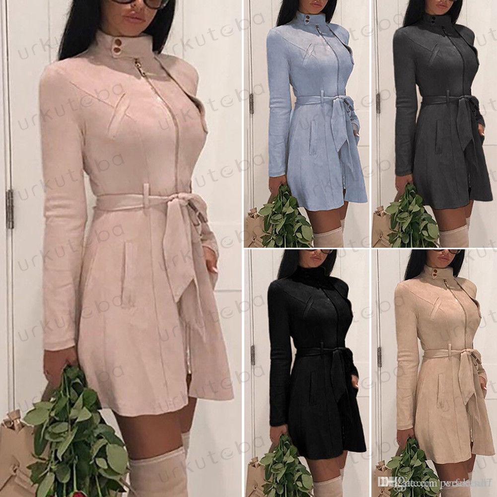 5 컬러 6 사이즈 스탠드 칼라 새시 Womens 겨울 지퍼 후드가있는 까마귀 자켓 코트 캐주얼 긴 소매 탑스 outwear